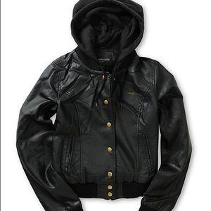OBEY Varsity Lover Faux Leather Jacket